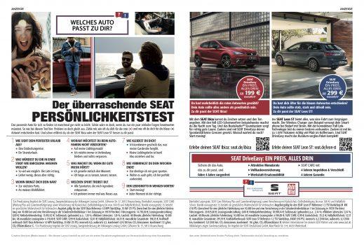 Print Doppelseite in der AUTO BILD mit Test