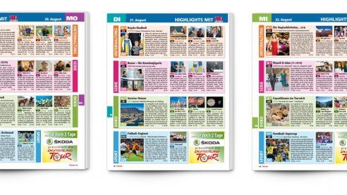 Ankündigung auf dem Cover & Integration im Inhaltsverzeichnis
