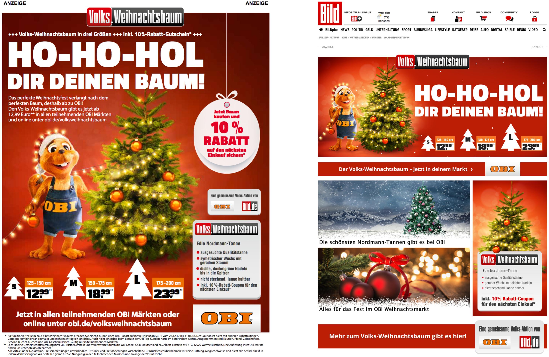 Gutschein Weihnachtsbaum.Ho Ho Hol Dir Deinen Baum Der Volks Weihnachtsbaum Von Obi Media