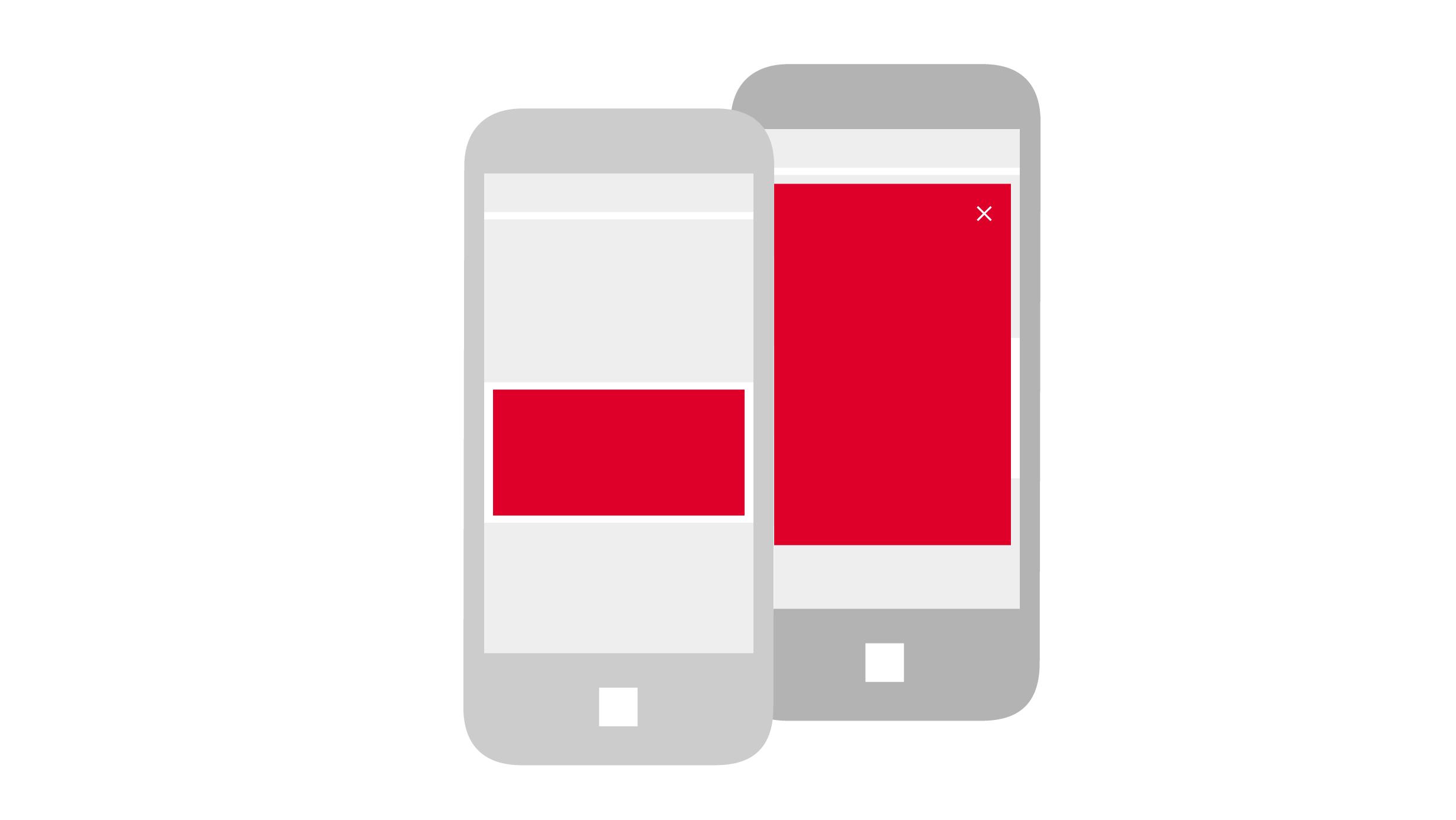 Mobile Interstitial + Content Ad