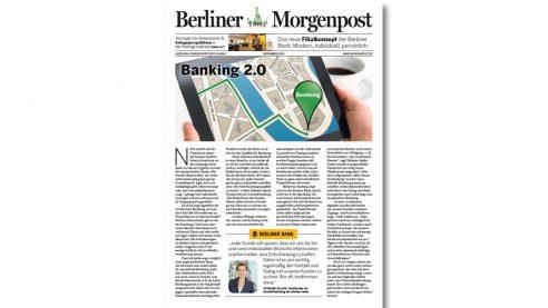 Mini Zeitung – Case Berliner Bank, Berliner Morgenpost