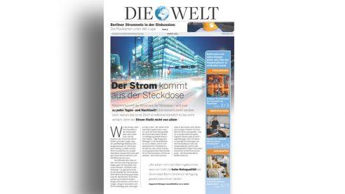 Mini Zeitung – Case Vattenfall, DIE WELT Berlin